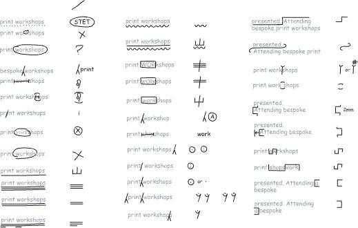 printer marks